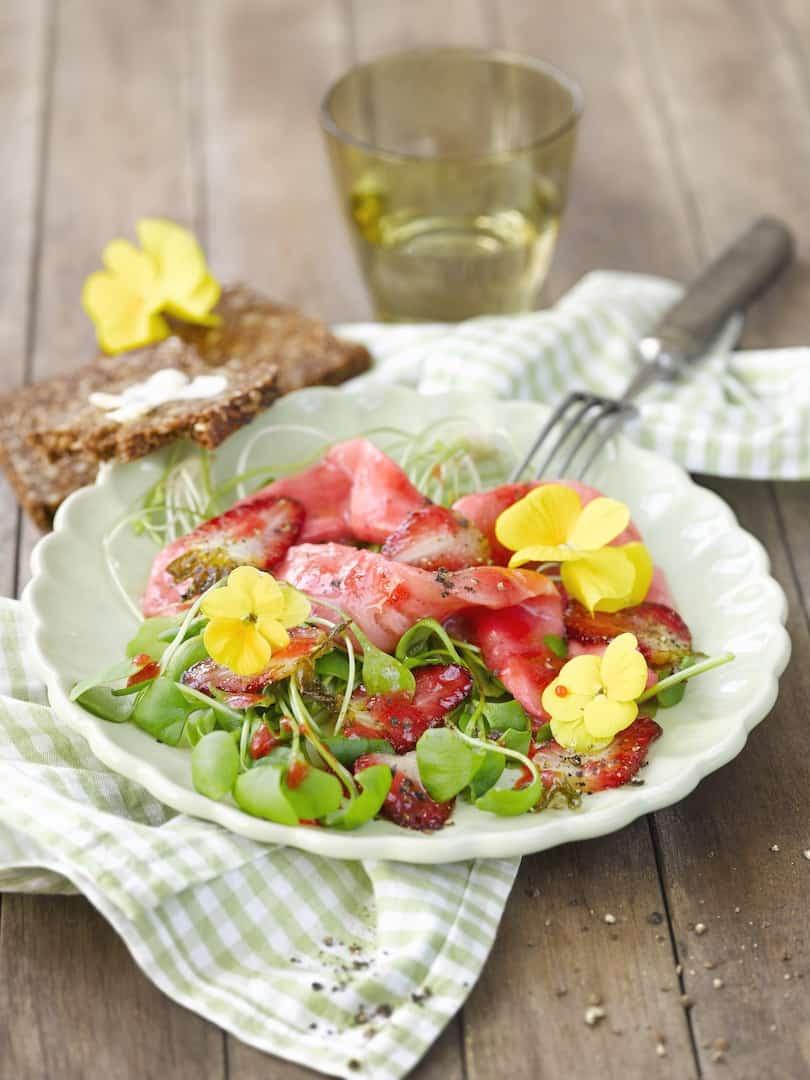Lach mit Erdbeermus aus dem Thermomix® – Foto: Frauke Antholz