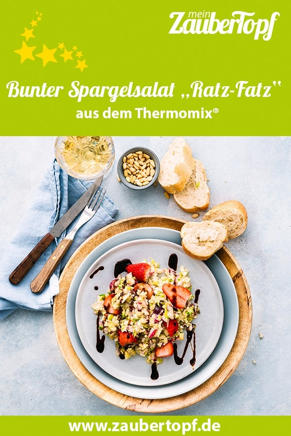 Ratz Fatz Spargelsalat mit Erdbeeren aus dem Thermomix® - Foto: Tina Bumann