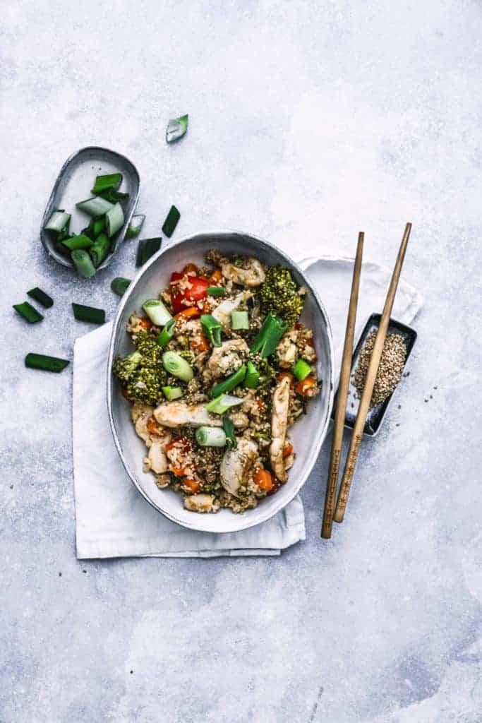 Asiatischer Bratreis mit Gemüse und Hähnchen aus dem Thermomix® - Foto: Tina Bumann