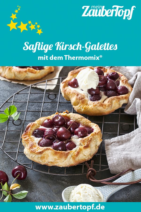 Saftige Galettes mit Kirschen und Marzipan mit dem Thermomix® – Foto: Frauke Antholz