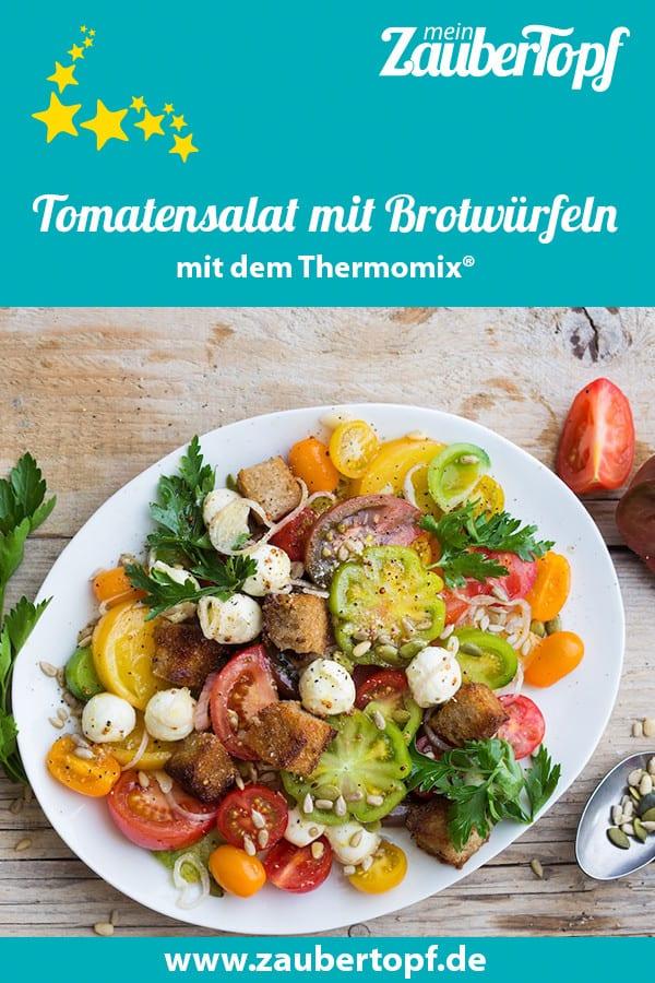 Tomatensalat mit knusprigen Brotwürfeln – Foto: Ira Leoni