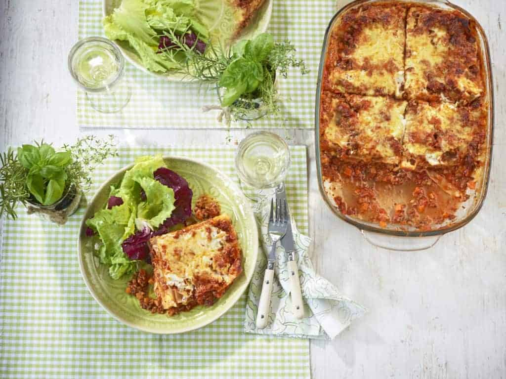 Lasagne mit Blattsalat mit dem Thermomix® – Foto: Jorma Gottwald