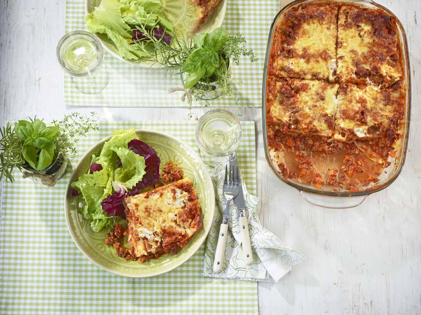 Lasagne mit Blattsalat – Foto: Jorma Gottwald
