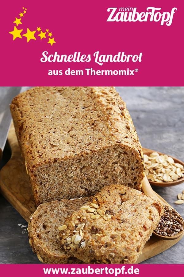 Pinterest Post schnelles Landbrot