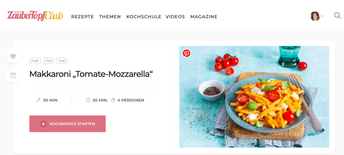 Makkaroni Tomate-Mozzarella im mein ZauberTopf-Club – Foto: Ira Leoni