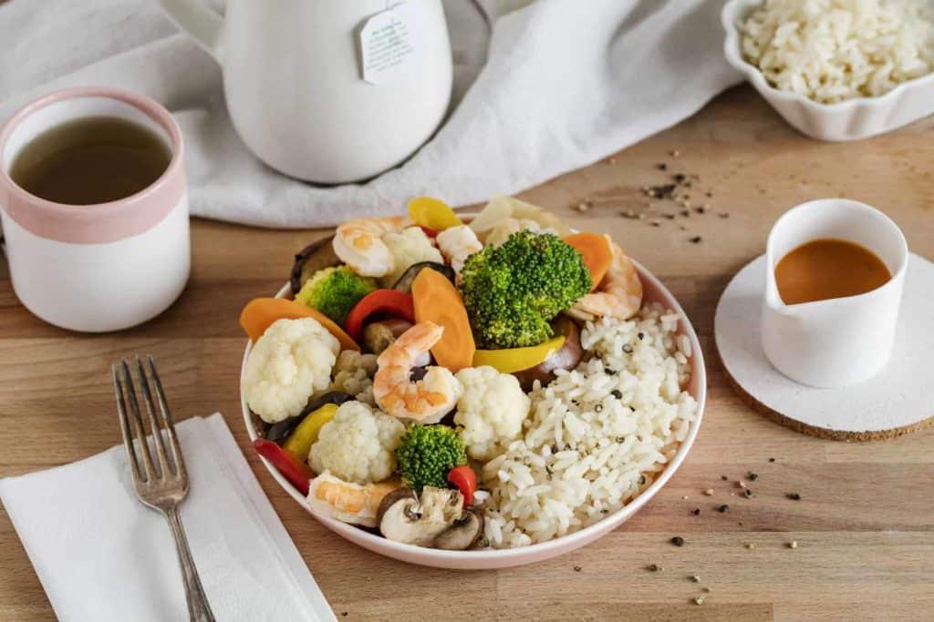 Scampi mit Gemüse und Reis aus dem Thermomix® –Foto: Anna Gieseler