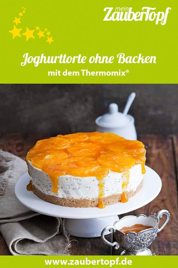 Joghurttorte mit Mandarinen und Mohn mit dem Thermomix® – Foto: Ira Leoni