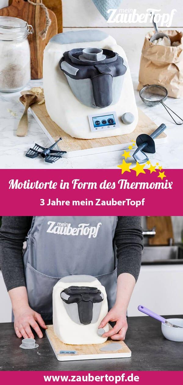 Motivtorte in Form des Thermomix® – Foto: Anna Gieseler