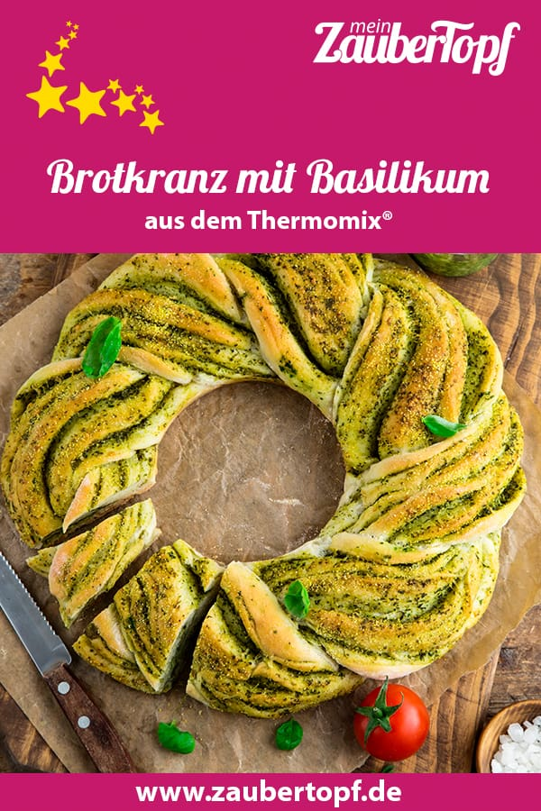 Brotkranz mit Basilikum und Knoblauch aus dem Thermomix® - Foto: shutterstock.com/Anna Shepulova