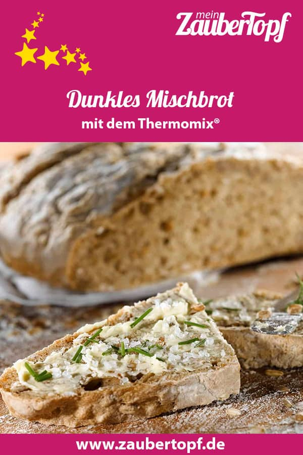 Dunkles Mischbrot mit dem Thermomix® – Foto: Frauke Antholz