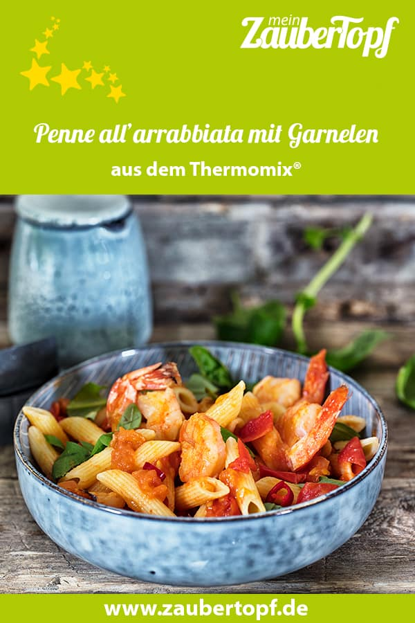 Penne all'arrabbiata mit Garnelen aus dem Thermomix® - Foto: Frauke Antholz