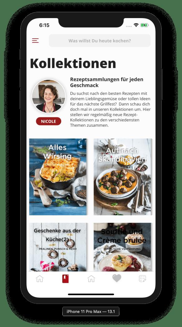 Die Kollektionen in der ZauberTopf App