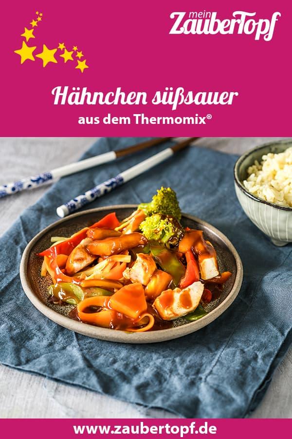 Hähnchen süßsauer mit Gemüse und Reis aus dem Thermomix® - Foto: Tina Bumann