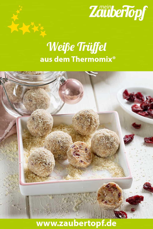 Weiße Trüffel mit Spekulatius und Cranberrys aus dem Thermomix® - Foto: Frauke Antholz
