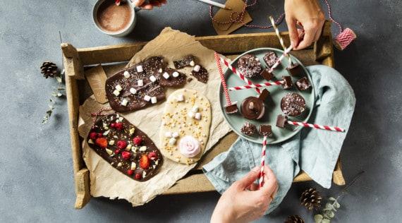 Schokolade mit bunten Toppings –Foto: Anna Gieseler