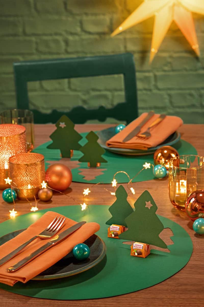 Stehaufbäumchen für deine Weihnachtstafel – Foto: Nina Struve/Ferrero
