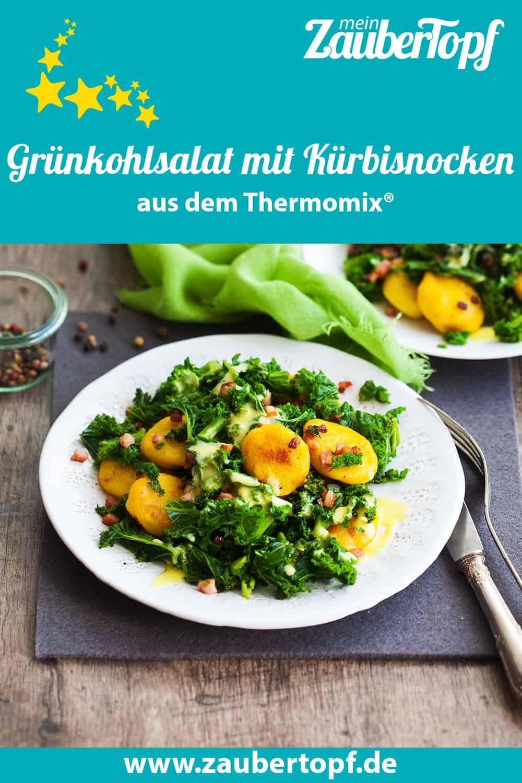 Grünkohlsalat mit Kürbisnocken aus dem Thermomix® - Foto: Ira Leonie