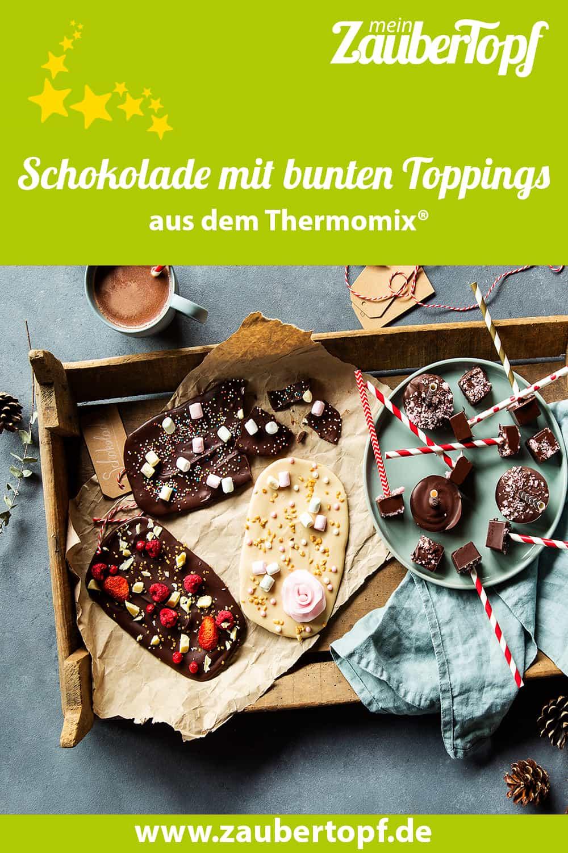Schokolade mit bunten Toppings aus dem Thermomix® - Foto: Anna Gieseler