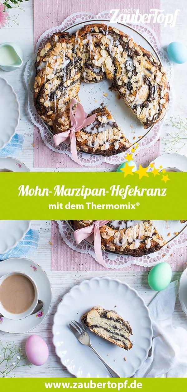 Hefekranz mit Mohn-Marzipan-Füllung mit dem Thermomix® –Foto: Katharina Küllmer