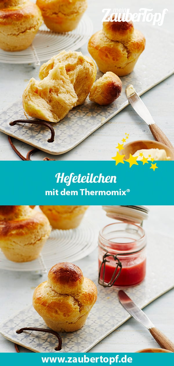 Hefeteilchen aus der Muffinform mit dem Thermomix® – Foto: Jorma Gottwald