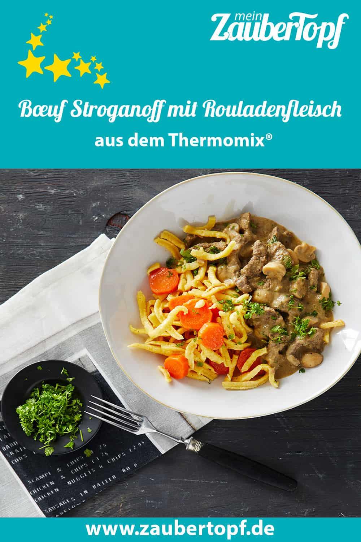 Bœuf Stroganoff mit Rouladenfleisch aus dem Thermomix® - Foto: Jorma Gottwald