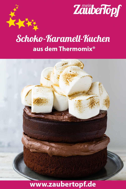 Schoko-Karamell-Kuchen mit Marshmallows aus dem Thermomix® – Foto: Sophia Handschuh