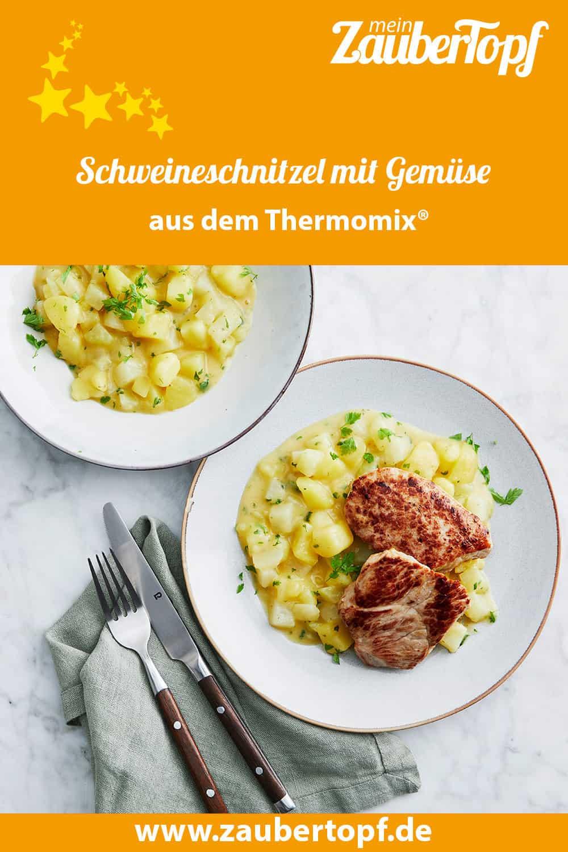 Schweineschnitzel mit Kohlrabi-Kartoffel-Gemüse aus dem Thermomix® - Foto: Jorma Gottwald