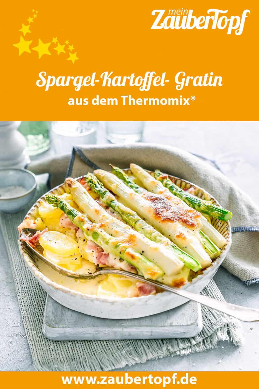Spargel-Kartoffel- Gratin mit Schinken aus dem Thermomix® - Foto: Ira Leonie