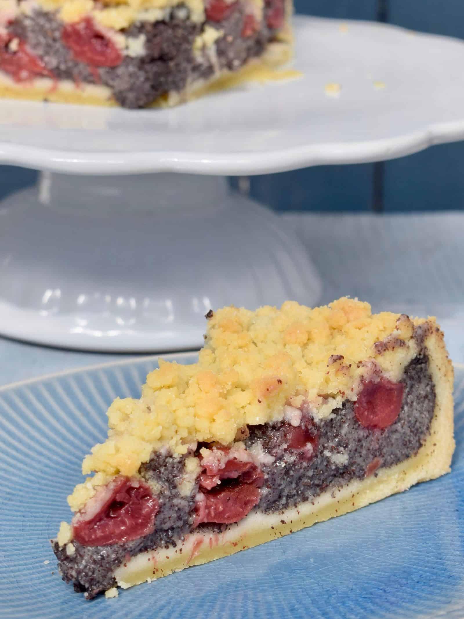 Kirsch-Mohn-Kuchen mit Streuseln aus dem Thermomix® –Foto: Nicole Stroschein