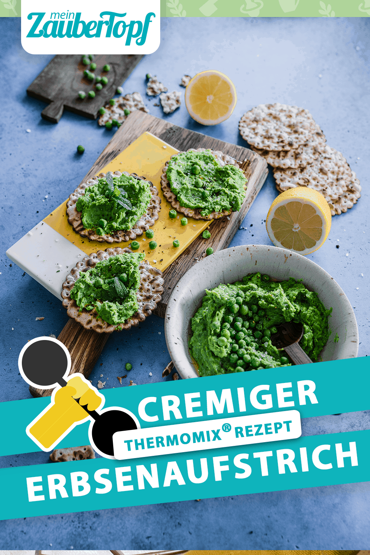 Cremiger Erbsenaufstrich aus dem Thermomix® – Foto: Tina Bumann
