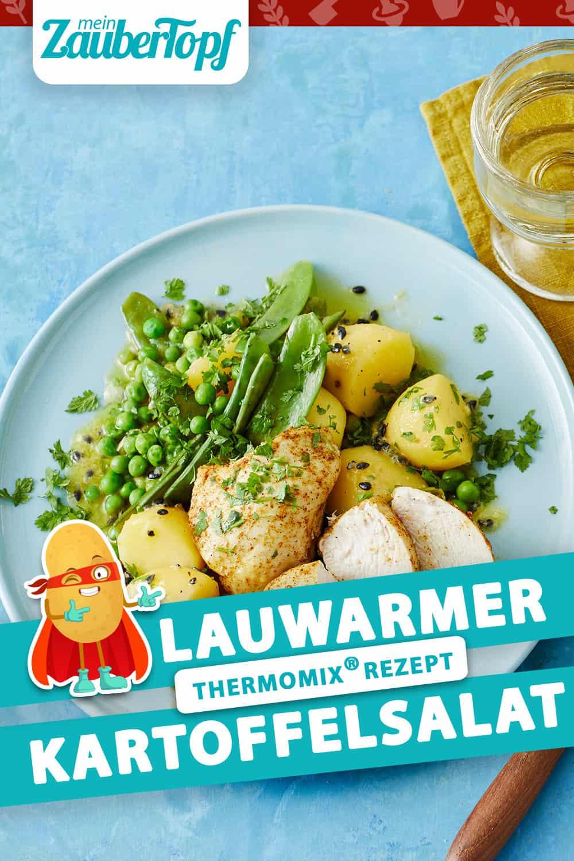 Lauwarmer Kartoffelsalat mit Curry-Hähnchen aus dem Thermomix® - Foto: Jorma Gottwald