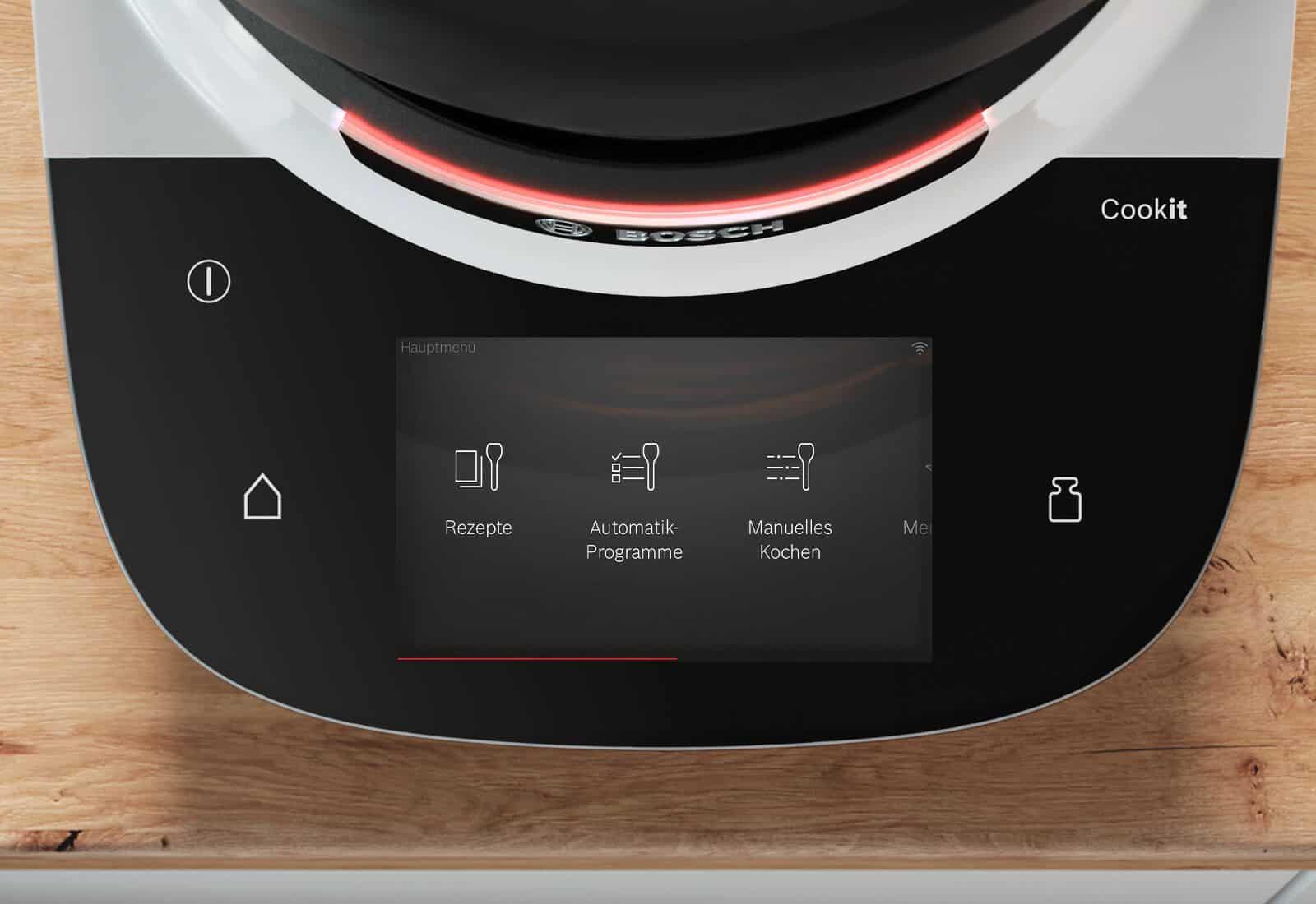 Das intuitive Menü leitet dich direkt zu den Guided Cooking Rezepten, den Automatikprogrammen oder zum manuellen Kochen – schon kann's losgehen! – Foto: PR