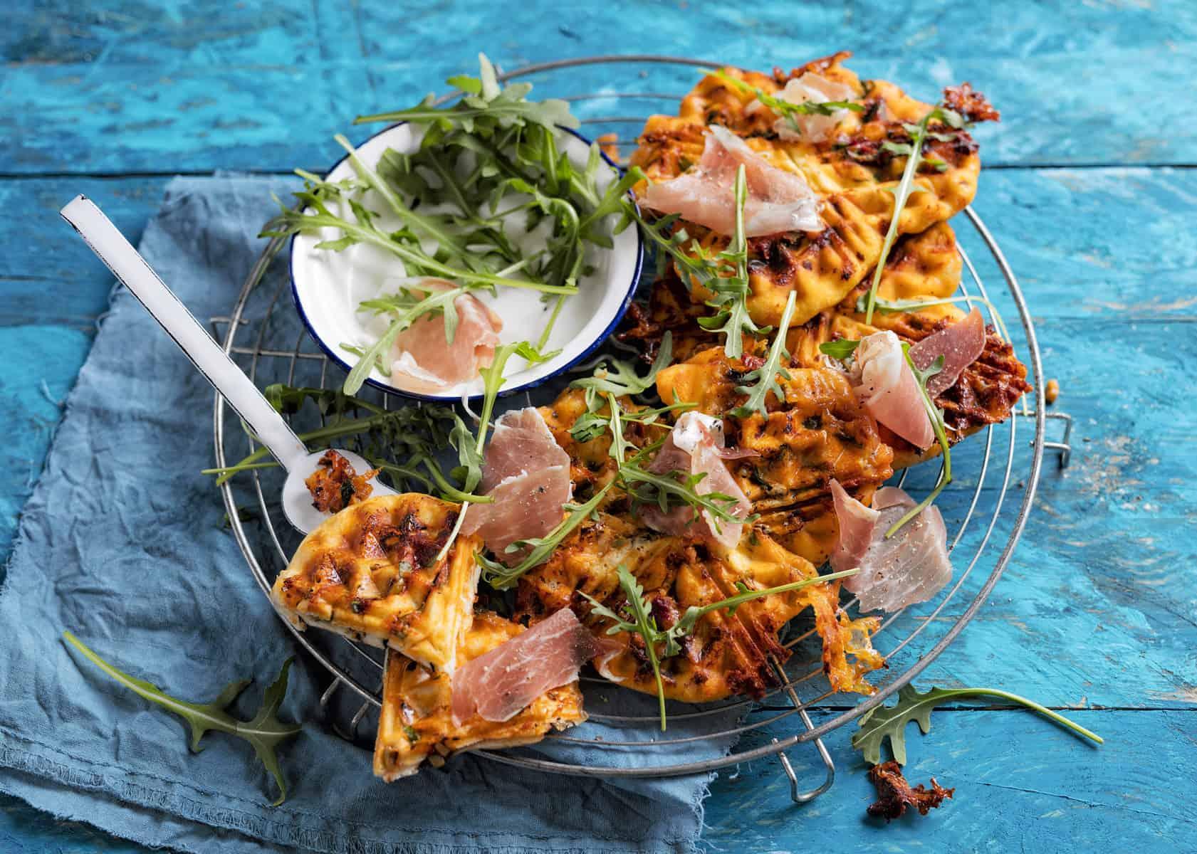 Schnelle Pizzawaffeln mit dem Thermomix® – Foto: Frauke Anholz