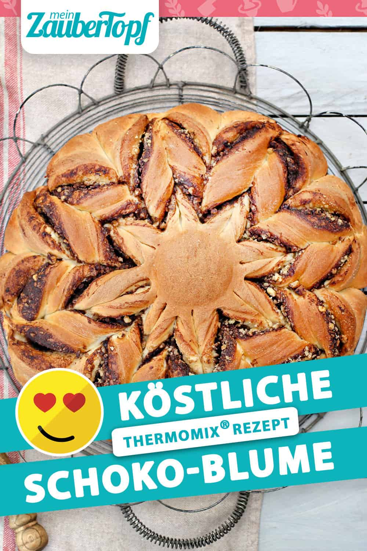 Schoko-Blume aus Hefeteig mit dem Thermomix® –Foto: Alexandra Panella
