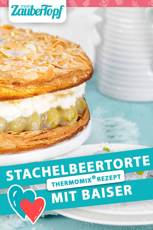 Stachelbeertorte mit Baiser mit dem Thermomix® - Foto: Frauke Antholz