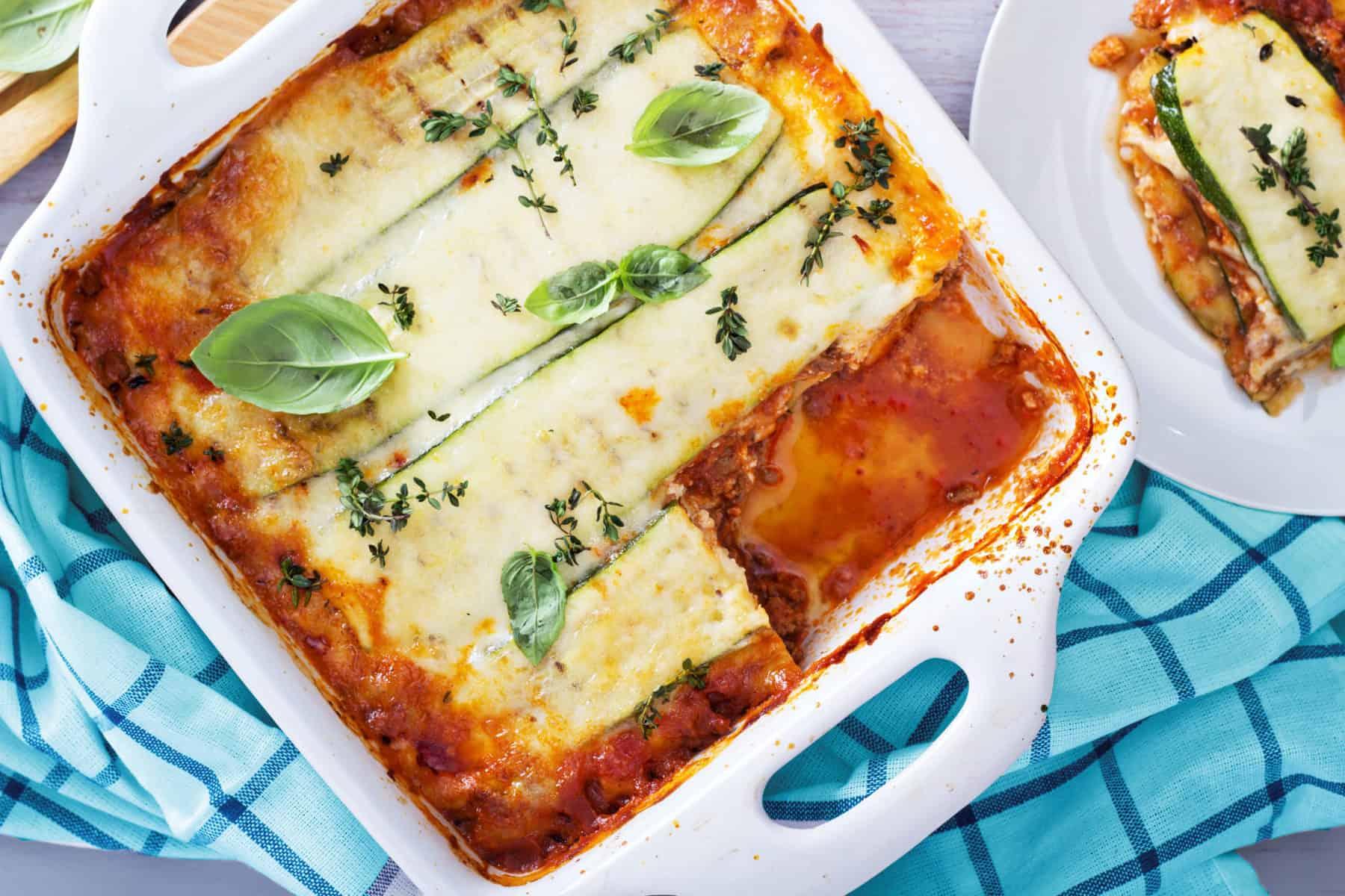 Zucchini Käse Lasagne mit dem Thermomix® –Foto: shutterstock