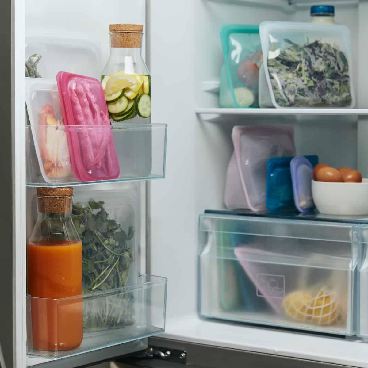 So praktisch: Die Silikonbeutel im Kühlschrank