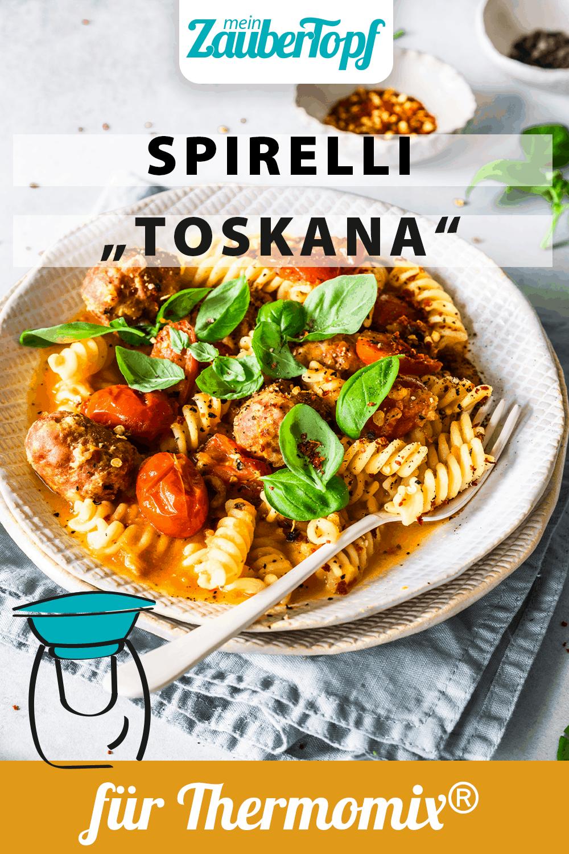 Spirelli 'Toskana' mit Salsicce-Brätbällchen mit dem Thermomix® - Foto: Tina Bumann