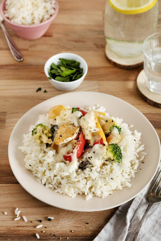 Hähnchen mit Reis und Gemüse mit dem Thermomix® – Foto: Anna Gieseler