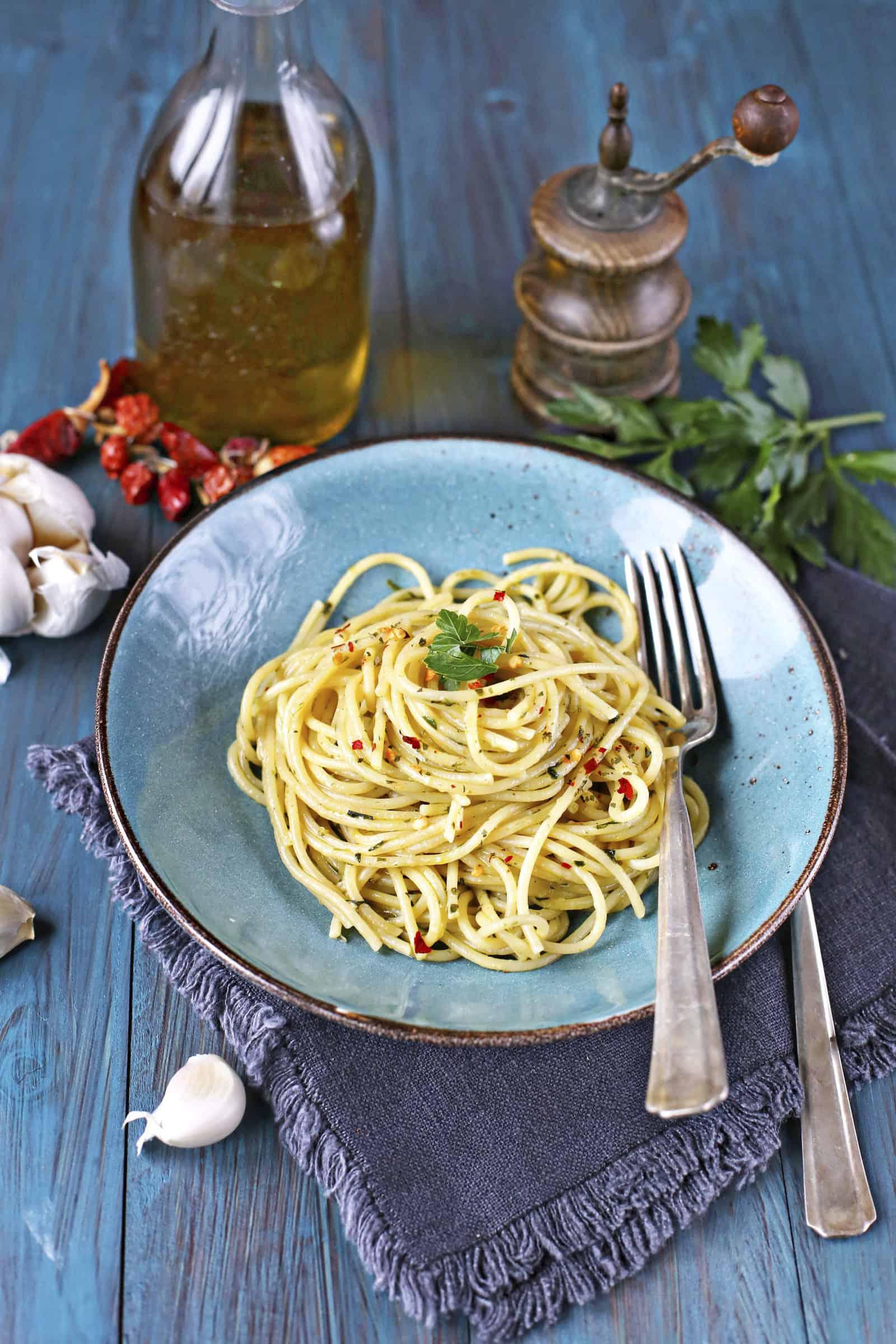 Spaghetti aglio, olio e peperoncino mit dem Thermomix® – Foto: Alexandra Panella