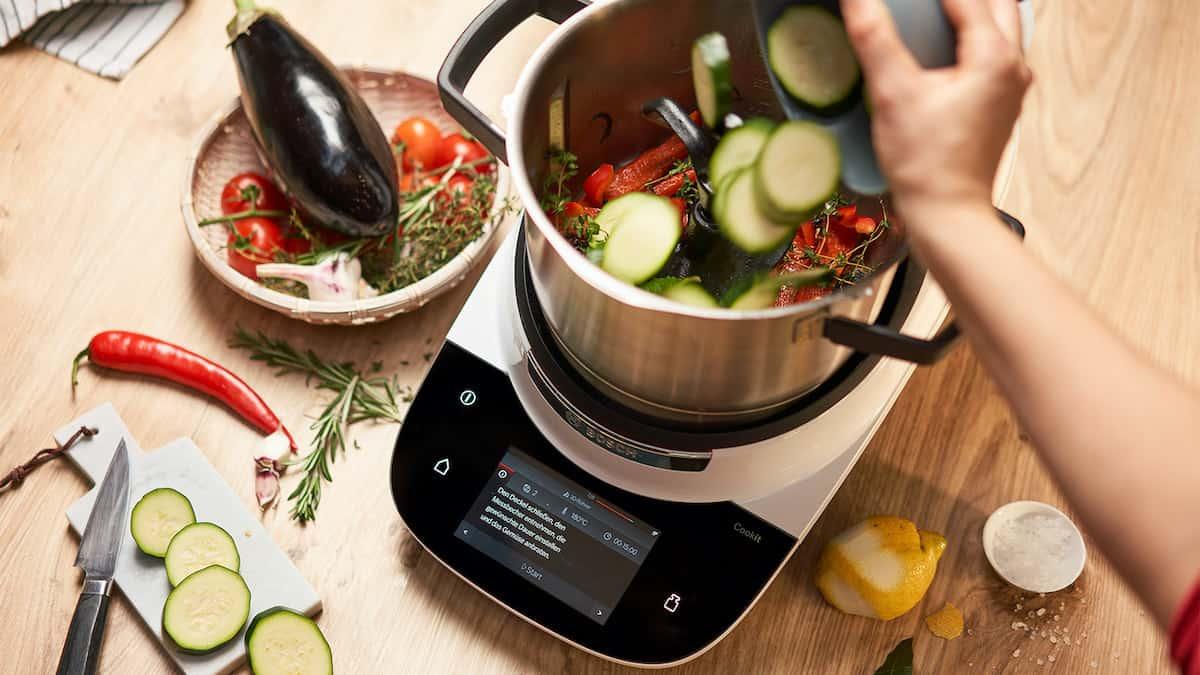 Bosch Cookit Funktionen. Gemüse anbraten