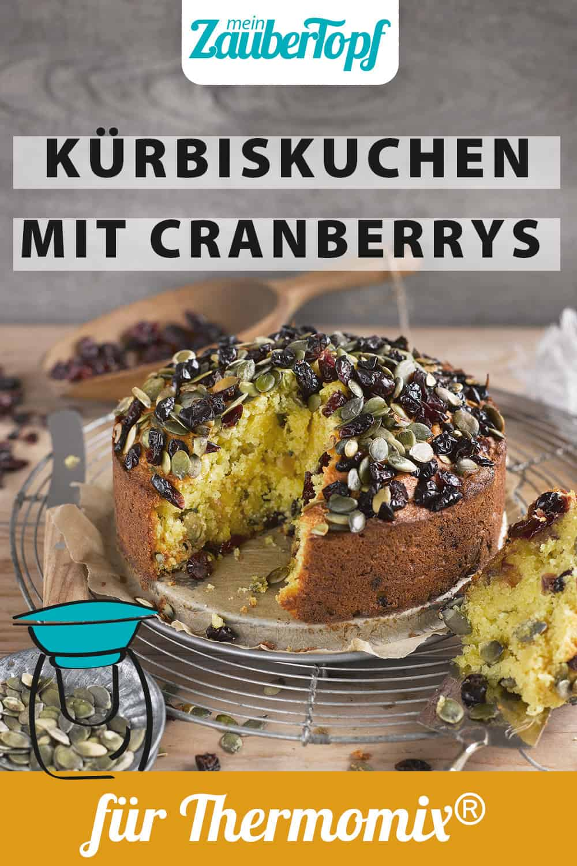 Kürbiskuchen mit Cranberrys mit dem Thermomix® - Foto: Frauke Antholz