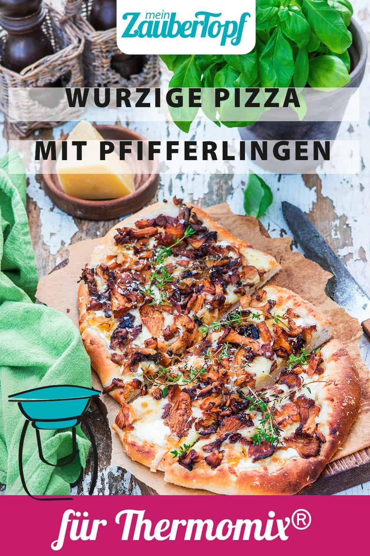 Würzige Pizza mit Pfifferlingen mit dem Thermomix® - Foto: Stockfood