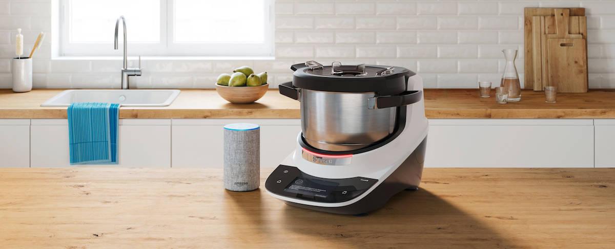 Du kannst den Bosch Cookit über Alexa steuern.
