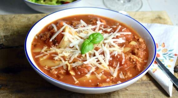 Lasagnesuppe mit dem Thermomix® –Foto: Nicole Schmidt