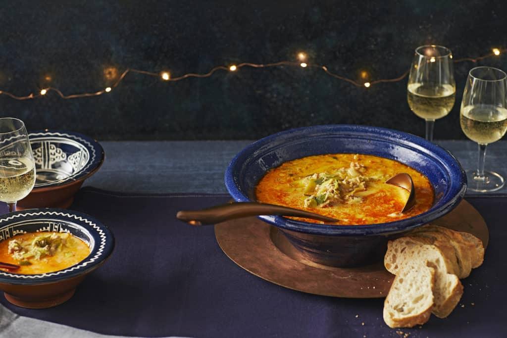 Baguette zu Porree-Hackfleisch-Suppe –Foto: Jorma Gottwald