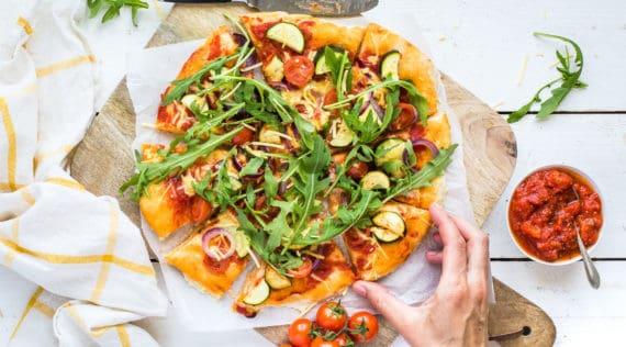 Vegane Pizza mit dem Thermomix® – Foto: Désirée Peikert