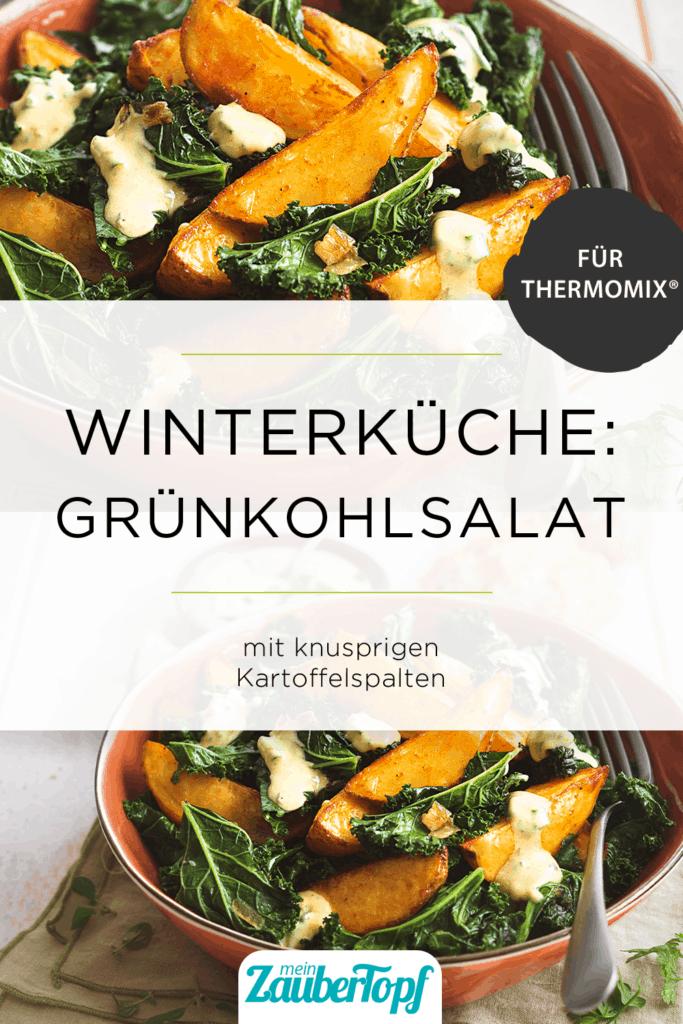Grünkohlsalat mit Kartoffelspalten mit dem Thermomix® –Foto: Ira Leoni