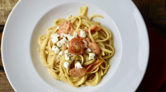 Spagetthi mit Feta und Tomaten aus dem Thermomix® –Foto: Nicole Schmidt