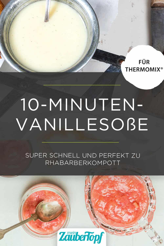 Rhabarberkompott mit Vanillesoße aus dem Thermomix® – Foto: gettyimages / vicuschka